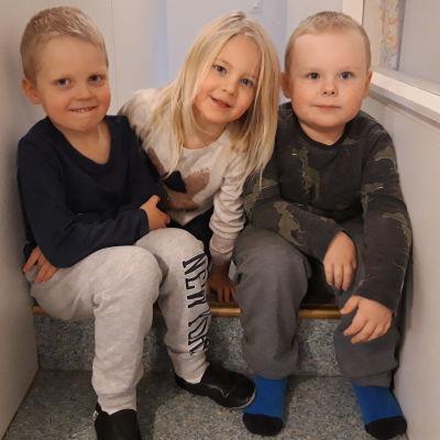 Väinö Jutila, Jolanda Uusitalo och Jacob Granholm.