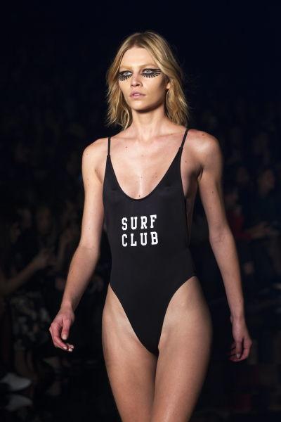 Modell på  Sao Paulo's Fashion Week 2015