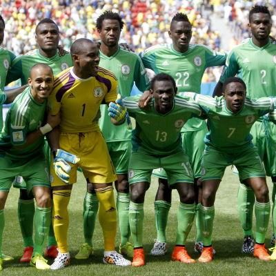 Nigeria tog sig vidare från gruppspelet vid VM 2014.