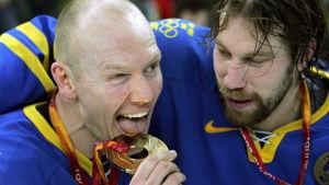Mats Sundin och Peter Forsberg, OS 2006.