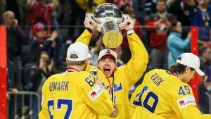 Sverige firar VM-guldet i Köln.