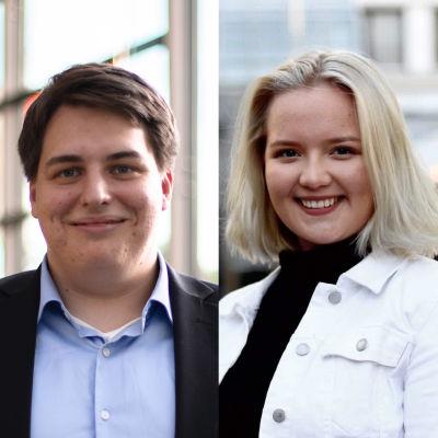 Ett collage på fyra unga politiker.
