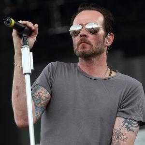 Scott Weiland på festivalen Rock on the Range i Columbus i Ohio 16.5.2015.