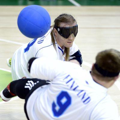 Finlands lag tog VM-silver i goalball