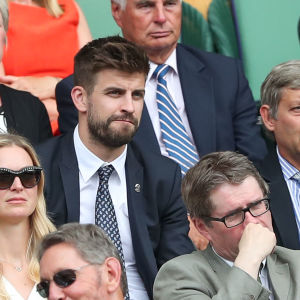 Gerard Piqué på Wimbledonmästerskapen.