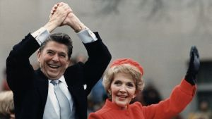 Ronald reagan med Nancy Reagan 1981.