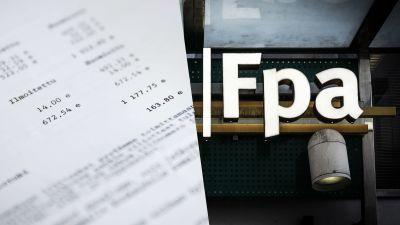 Skylt där det står FPA.