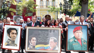 Demonstration i Venezuela som stöder den nyligen utnämnda församlingen som ska ändra om landets grundlag.