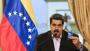 President Nicolás Maduro fördömde sanktionerna som ett försök att stjäla Venezuelas nationalegendom