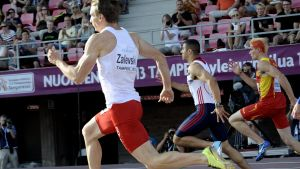Karol Zalewski och Adam Gemili, 200m U23-EM