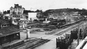 Åbo hamn efter bombningarna 1941.
