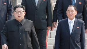 """Den förre spionchefen Kim Yong-Chol som har beskrivits som Kim högra hand lär ha skickats till ett """"omskolningsläger"""" som straff"""