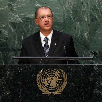 President James Michel talade vid FN:s generalförsamling i september