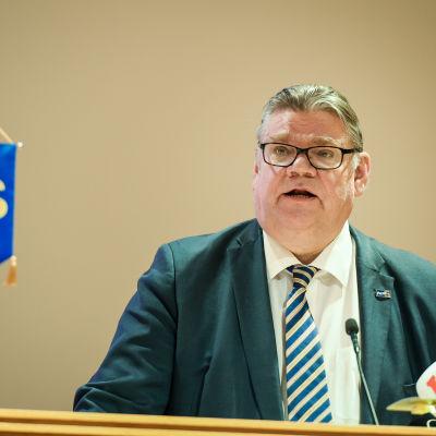 Sannfinländarnas ordförande Timo Soini i Helsingfors den 12 mars 2016.