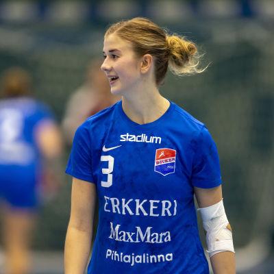 Dickens Tove Salokivi var en av lagets bättre spelare då laget slog KyIF med 25–22 hösten 2018.