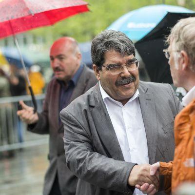 Salih Muslim som ledde kurdernas Demokratiska unionsparti i Syrien, besökte Zürich år 2015