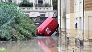 Flera människor omkom i våldsamma översvämningar i den italienska kuststaden Livorno den 10 september 2017.