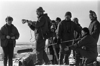 Åke Lindman och kamerateamet