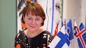 Porträtt på Paula Lehtomäki.