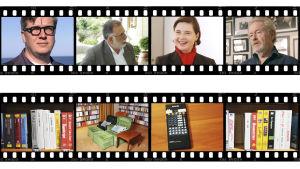Tomas Alfredson, Francis Coppola, Isabelle Rossellini, Ridley Scott, Ingmar Bergmanin videokokoelmaa... Kuvia dokumenttisarjasta Bergmanin videot.