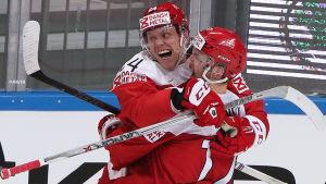 VM har varit en stor framgång för Nikolaj Ehlers och resten av det danska hockeylandslaget.