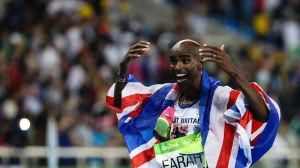Mo Farah firar OS-guld 2016.