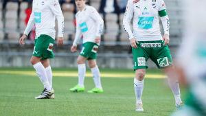 Kristian Kojola, Albin Granlund och Jani Lyyski laddar för Champions League-lottning.