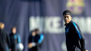 FC Barcelonas Neymar på träning.