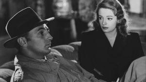Robert Mitchum ja Jane Greer Jacques Tourneurin elokuvassa Varjot menneisyydestä