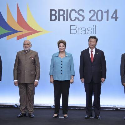 BRICS-ländernas sjätte möte i Brasilien 15 juli 2014.