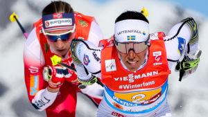 Charlotte Kalla och Astrid Uhrenholdt Jacobsen.