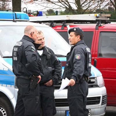 Poliser i Aachen, Tyskland