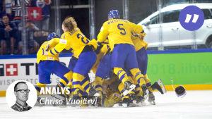 Sverige firade VM-guld i fjol våras.