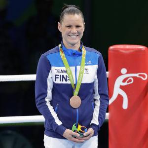 Mira Potkonen, prisutdelning, OS 2016.