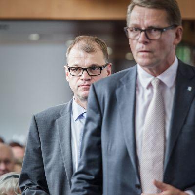 Juha Sipilä, Centern och Matti Vanhanen