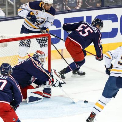 Columbus utklassade Buffalo i NHL.