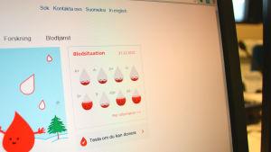 Blodtjänstens hemsida 27.12.2015
