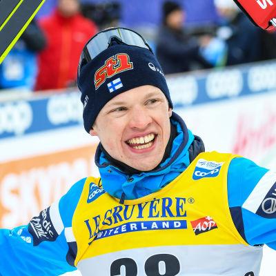 Iivo Niskanen knep en världscupseger i Lahtis den 29 februari.