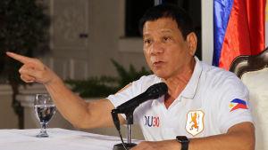 President Rodrigo Duterte har lovat hårda tag mot droger