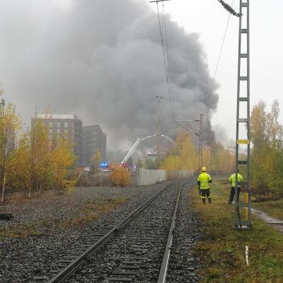 Tulipalo Turun Pansiontiellä.