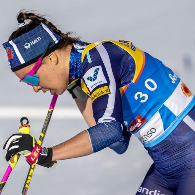 Kerttu Niskanen åkte 10 kilometer klassiskt i Seefeld.