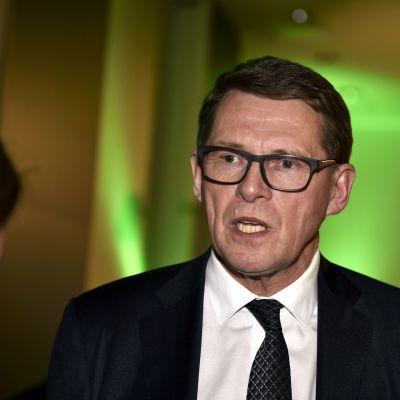Presidentkandidat Matti Vanhanen på Centerns valvaka