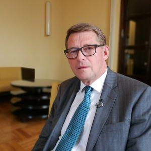 Matti Vanhanen i riksdagen