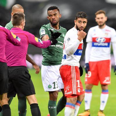 Nabil Fekir skapade rubriker i franska fotbollsligan.