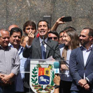 Oppositionsledaren, talman Juan Guaido utropade sig till president den här veckan
