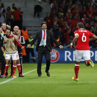 Chris Coleman och hans Wales slog Belgien i EM:s kvartsfinal.
