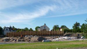Ny anslutning mellan riksväg 25 och Formanshagen i Ekenäs byggs 2012.