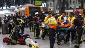 Tågolycka i Barcelona