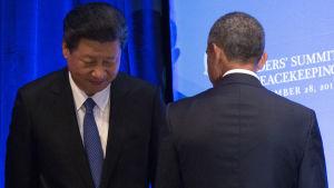 Kinas och USA:s presidenter, Xi Jinping och Barack Obama.