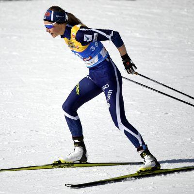 Anne Kyllönen i farten.